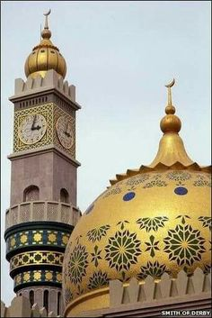 Beautiful Golden Masjid #islamicarchitecture