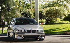 Indir duvar kağıdı E39 5 BMW, E39, Gümüş sedan, Alman otomobil, Gümüş, BMW