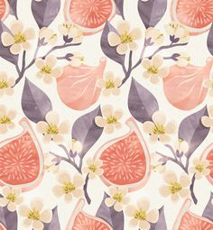 SIZE: 100 W x 108 H  This wallpaper comes with 4 panels each measuring 25 wide by 108 high.  Get this fruity and fun wallpaper design on your walls!  This mural is printed on our traditional paste and glue wallpaper. Its high quality matte finish allows for a beautiful statement wall. If you require a custom sizing option, please contact us via the Custom Order Request button on this listing. *email for different material options.  *Note: the color of the photo displayed may vary slightly…