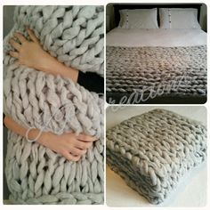 Arm Knit Throw Blankets  16 Colours Available  por KRcreationsau
