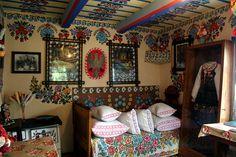 Painted cottage, Zalipie, Poland | Flickr - Photo Sharing!