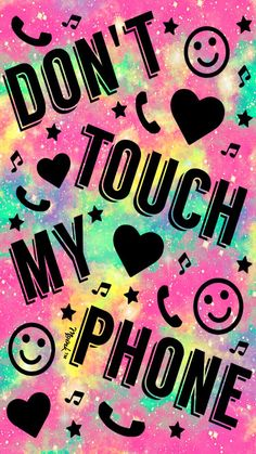 Don't Touch My Phone Galaxy Wallpaper #iPhone #android #phonewallpaper #wallpaper #don'ttouchmyphone #hearts