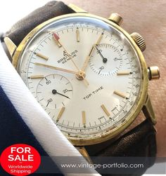 Gold Plated Genuine Breitling Top Time Chronograph #breitling #breitlingwatches  #luxurywatchbrands