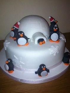 Penguin Christmas - Cake by Donna