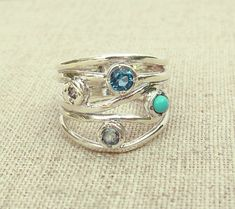 Hey, I found this really awesome Etsy listing at https://www.etsy.com/listing/230891773/blue-multistone-ring-statement-ring-blue