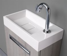 Thebalux toiletmeubel global detail wastafel op onderkast eiken antraciet fontein - Wc met wastafel ...