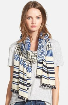 Madewell 'Mix Up' Patchwork Scarf available at #Nordstrom
