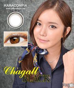 #カラコン #カラコンぴあ ★シャガール (Chagal) DIA 14.0mm★ 繊細な模様と自然なふち。うるうると澄んだ瞳を目立たせるように。