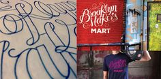 Brooklyn Marker's Mart design and lettering by Leandro Senna