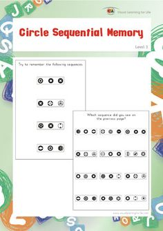 Worksheet Auditory Memory Worksheets memory games the ojays and memories on pinterest in sequential worksheets student must identify same sequence