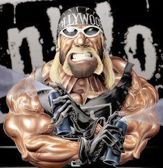 Hollywood Hogan by MrTalent on DeviantArt Wrestling Stars, Wrestling Wwe, Eddie Guerrero, Kenny Omega, Celebrity Caricatures, Funny Caricatures, Wrestling Superstars, Wwe World, Wwe Wallpapers