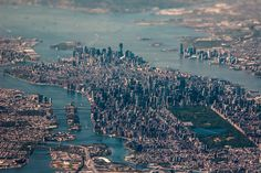 Manhattan skyline, NYC  (via 40 of the world's most impressive skylines - Matador Network). #travel #nyc