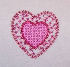 Heart Within A Heart Machine Embroidery Design by JaLeiEmporium