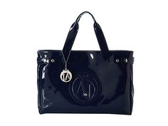 Armani Jeans Medium Tote Bag Navy - Zappos Couture