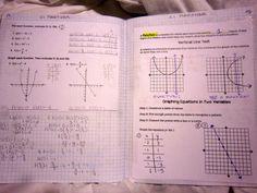 Interactive notebook math