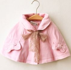 baby girls cape cloak kids sweet wool cape jacket/coat children autumn winter outwear clothing free shipping