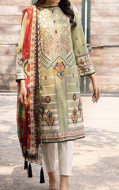 Pistachio Green, Lawn Suits, Cotton Suit, Famous Brands, Green Cotton, Winter Dresses, Pakistani, Sapphire, Kimono Top