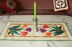 (7) Name: 'Quilting : Tulip Table Runner
