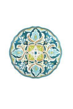 "Set of 2 Melamine ""Tangerine"" Salad Plates. These 9"" Salad Plates are the perfect compliment to the cereal bowls and dinner plates. They are great for both Indoor and Outdoor Entertaining. Melamine is a non-breakable and dishwasher safe.   Melamine Salad Plates by Le Cadeaux. Home & Gifts - Home Decor - Dining - Dinnerware Kentucky"