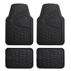 13pc Seat Covers & Floor Mats for Car Black/Beige w/ Vinyl Trim Mats Bucatti Vintage Car & Truck Interior Trim Vintage Car & Truck Parts