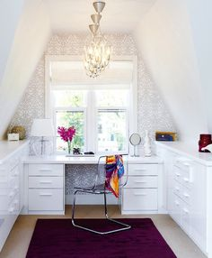 Turn your attic into a chic office space.