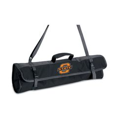 Picnic Time 3-Piece BBQ Tote With Printed Collegiate Football Team Logo - 749-03-175-464-0