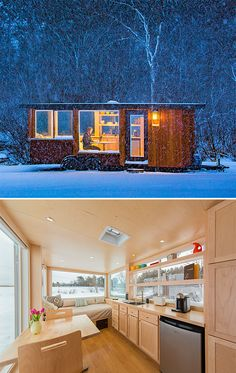 ESCAPE Vista Cabin On Wheels -- Wisconsin-based ESCAPE Homes has created a towable tiny house; the 160 square-foot Vista model is an American-made cabin on wheels with panoramic windows and a customizable modern interior. At 8.5 feet wide and 9.5 feet tall and weighing 6500-pounds, it can be easily towed with a truck or SUV.  $46,600