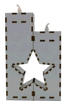 Holz Kerzenhalter mit 2 LED Kerzen Die ideale Deko,Laser Cut,für individuelle Dekorationen und Gestaltungsideen,aus 3 mm Pappelholz,mit Dekorfolie.Geschen für Weihnachten,besondere Anlässe