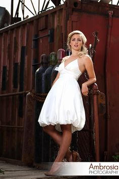 Short Wedding Dress Mexican Destination by PureMagnoliaCouture, $550.00
