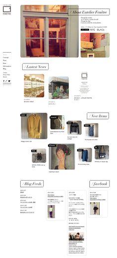 余白とナビ位置と写真のレイアウトがポイント http://www.latelierfenetre.jp/