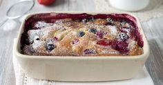 Recette de Clafoutis minceur aux fruits rouges. Facile et rapide à réaliser, goûteuse et diététique. Ingrédients, préparation et recettes associées.