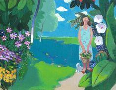 garden-fragrance / Oil on Canvas, 2011 / 53.0 x 41.0 cm (20.9 x 16.1 inch)