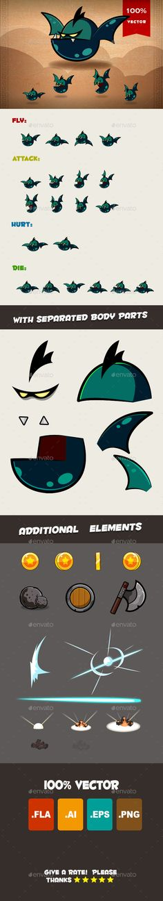 Bat Spritesheet (Sprites)