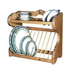 Penny Pine Exford drainer, made by Somerset pine in the UK. Plate Racks In Kitchen, Gypsy Kitchen, Pine Kitchen, Resource Furniture, Open Cabinets, Wooden Walls, Design Crafts, Decoration, Wood Crafts