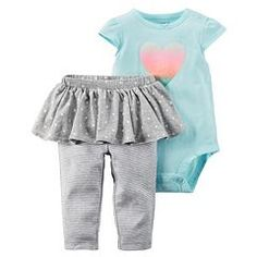 Baby Girl Carter's Bodysuit & Polka-Dot Tutu Leggings Set