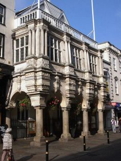 Exeter Guildhall in Devon, England is the oldest Guildhall  in England. Built in 1468 and is still used by Exeter City Council and contains the oldest Civic Seal in Britain dating from 1175 photo  by John Spivey