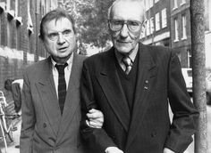 Artist Francis Bacon with cult writer William Burroughs, London 1989.