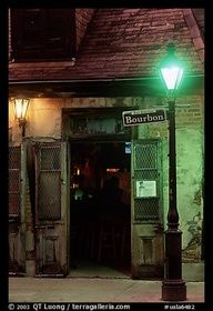 Been There. Done That. - Cafe on Bourbon street at night, French Quarter - #travel #honeymoon #destinationwedding