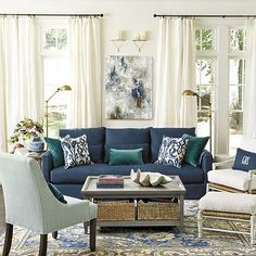 15 Lovely Living Room Designs with Blue Accents | CornerStone -LR ...