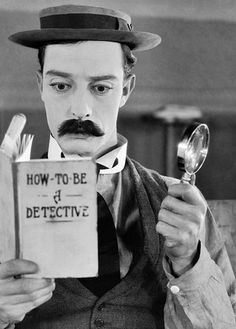 A kindly movie projectionist (Buster Keaton) longs to be a detective in the 1924 silent comedy film 'Sherlock Jr' Sherlock Holmes through the ages, in pictures Picture: Rex Features Silent Film Stars, Movie Stars, Classic Hollywood, Old Hollywood, People Reading, Buster Keaton, Silent Comedy, Comedy Film, Fritz Lang