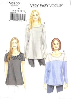 VOGUE 8950 - FROM 2013 - UNCUT - MISSES TUNIC