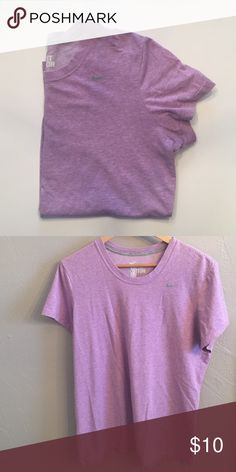 Nike Dri-Fit cotton Tee super cute lavender tee for working out or lounging around the house.Dri-fit Nike Tops Tees - Short Sleeve