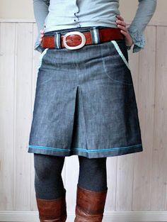 Skirt inspiration - jeans