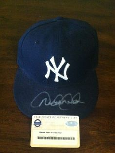 Derek Jeter autographed NY Yankees New Era Hat Steiner COA Yankees News a18a26d8be94