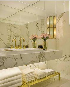 Sugestão banheiro casal - Mármore