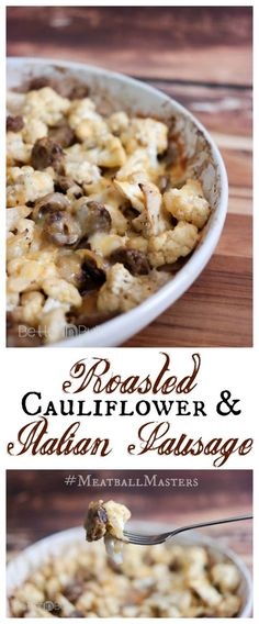 I made this delicious and simple recipe for Roasted Cajun Cauliflower and Sausage using Johnsonville® Italian Sausage as part of a sponsored post for Socialstars. All opinions, enthusiasm and photos are my own. Follow #MeatballMasters on your favorite social networks... #dinner #maindish #recipes