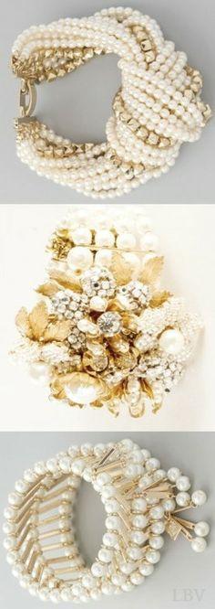 PEARLFECION Bridal Pearl Bracelets
