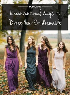 15 Jewel Tone Bridesmaids' Dresses To Make A Statement - Hochzeitskleid Ideen Jewel Tone Bridesmaid, Mix Match Bridesmaids, Bridesmaids And Groomsmen, Wedding Bridesmaids, Wedding Attire, Bridesmaid Dresses, Wedding Dresses, Green Bridesmaids, Prom Dresses