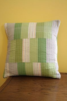 quilted modern pillow