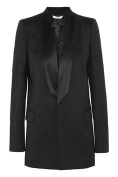 Givenchy|Black light wool jacket with satin details|NET-A-PORTER.COM